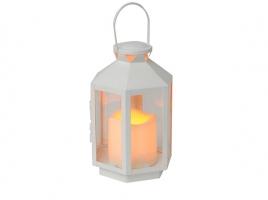 Светильник декоративный LED, с таймером, 20 см, пластик белый