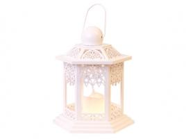 Светильник декоративный LED, с таймером, 20 см, дерево, белый
