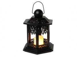 Светильник декоративный LED, с таймером, 20 см, дерево, черный