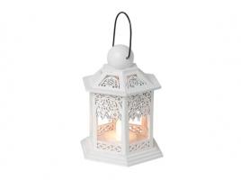 Светильник декоративный LED, 13 см, дерево, белый