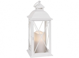 Светильник декоративный LED, с таймером, 32 см, металл, белый (без стекла)