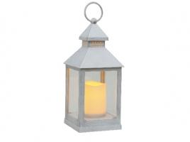 Светильник декоративный LED, с таймером, 24 см, пластик белый