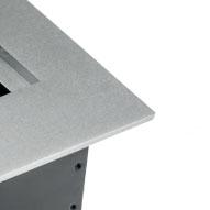 Встраиваемая выдвижная горизонтальная розетка в столешницу - цвет алюминий