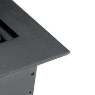 Встраиваемая выдвижная горизонтальная розетка в столешницу - цвет черный
