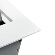 Встраиваемая выдвижная горизонтальная розетка в столешницу - белый цвет